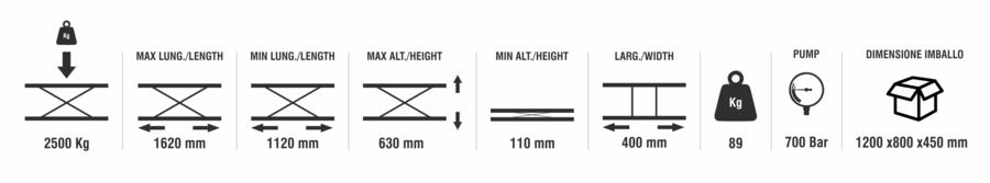 Fiche produit : Slift - Cric de levage 2500 kg